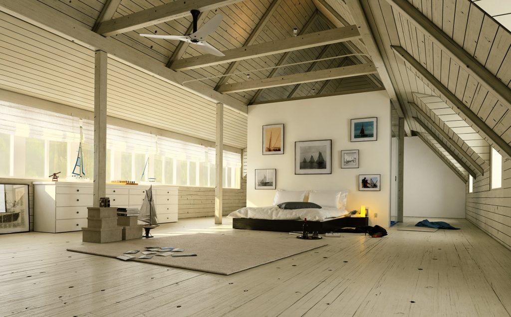 Villa Bedroom visualisation from renderwerke