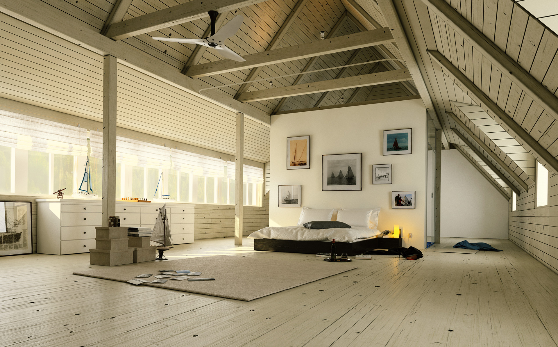 Villa Bedroom visualisation from renderwerke